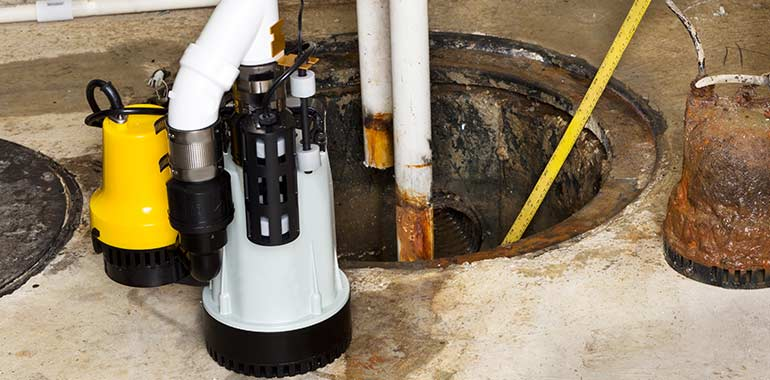 sump pump repair and installation services